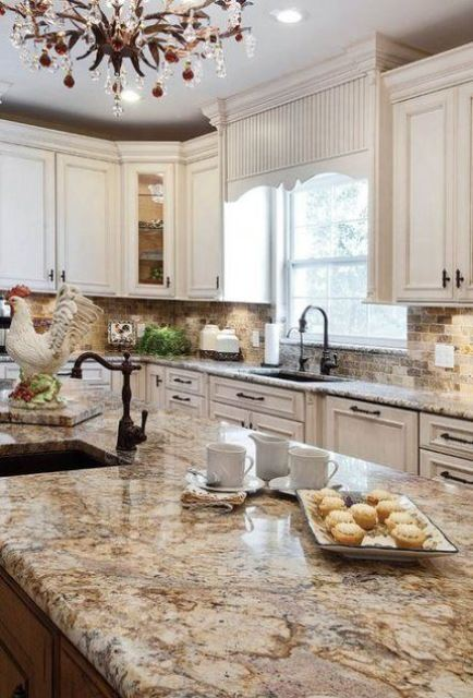 avoid such outdated looks with granite countertops and change them for something fresh and edgy
