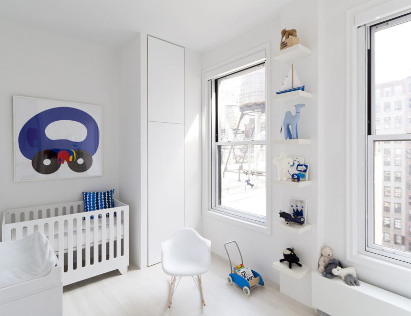 Another kid's room is spruced up with blue touches