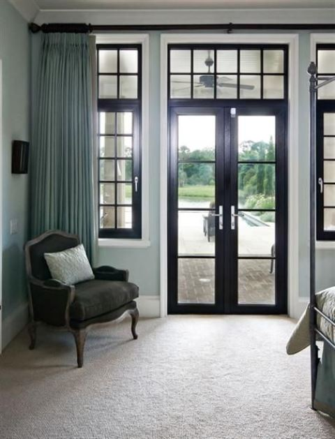 if dark doors seem too much for you, you can go for glass ones and glass frames