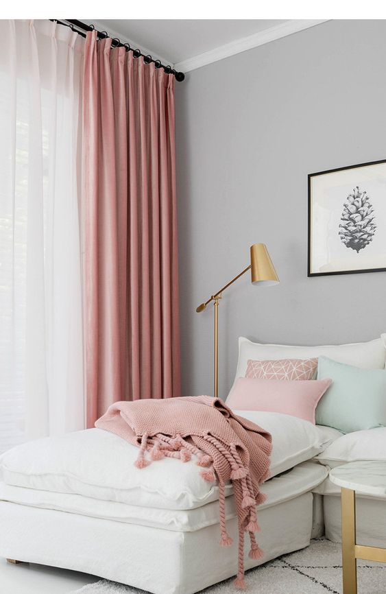 your curtains can be colorful, too, match your throws and blankets with the curtains you have