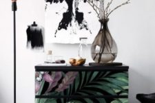 15 a simple Malm piece is updated using moody tropical contact paper for a trendy feel