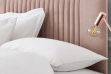 17 a chic blush upholstered headboard is a subtle and stylish touch of color to your bedroom