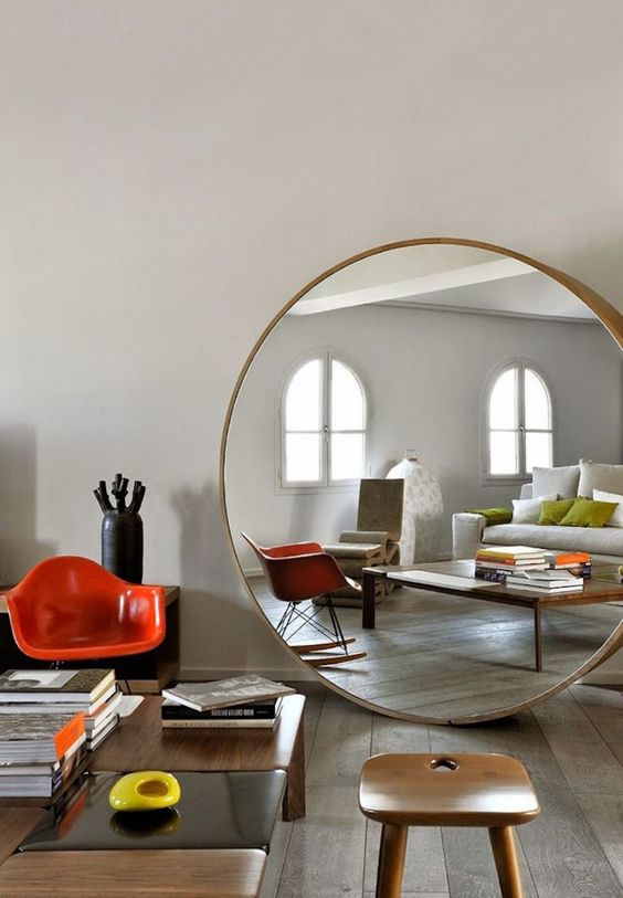 if you want mirrors, choose such a stylish and bold floor solution and give an edgy feel to your home