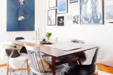 17 mix and match all the chairs in the dining room to make it look more relaxed and cool