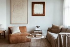 18 an airy and welcoming earthy tone interior in ocher, rust, neutrals and light-colored wood