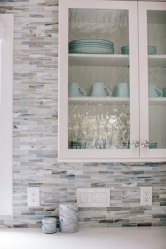 skip such mosaic tile backsplashes, they look really outdated and super boring