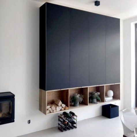 Metod cabinets with Fenix panels look very stylish and accommodate a lot