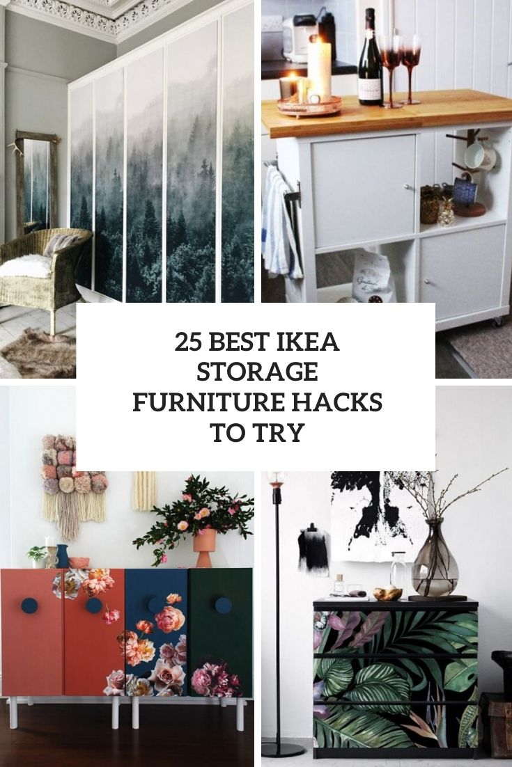 25 Best IKEA Storage Furniture Hacks To Try