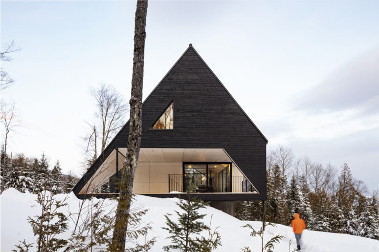 Dramatic A-Frame Cabin On A Steep Slope