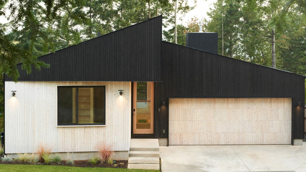 This minimalist home in Washington is covered with two tone wood to make its look contrasting and outstanding from the traditional neighborhood
