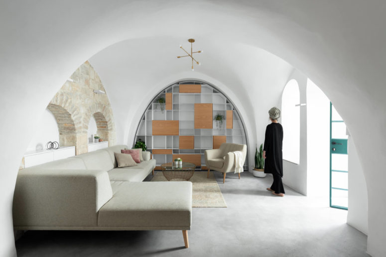 This unique home is a family dwelling is created in the old city of Jerusalem, which was a tricky task