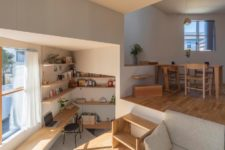 bookcases used to divide space are quite practical