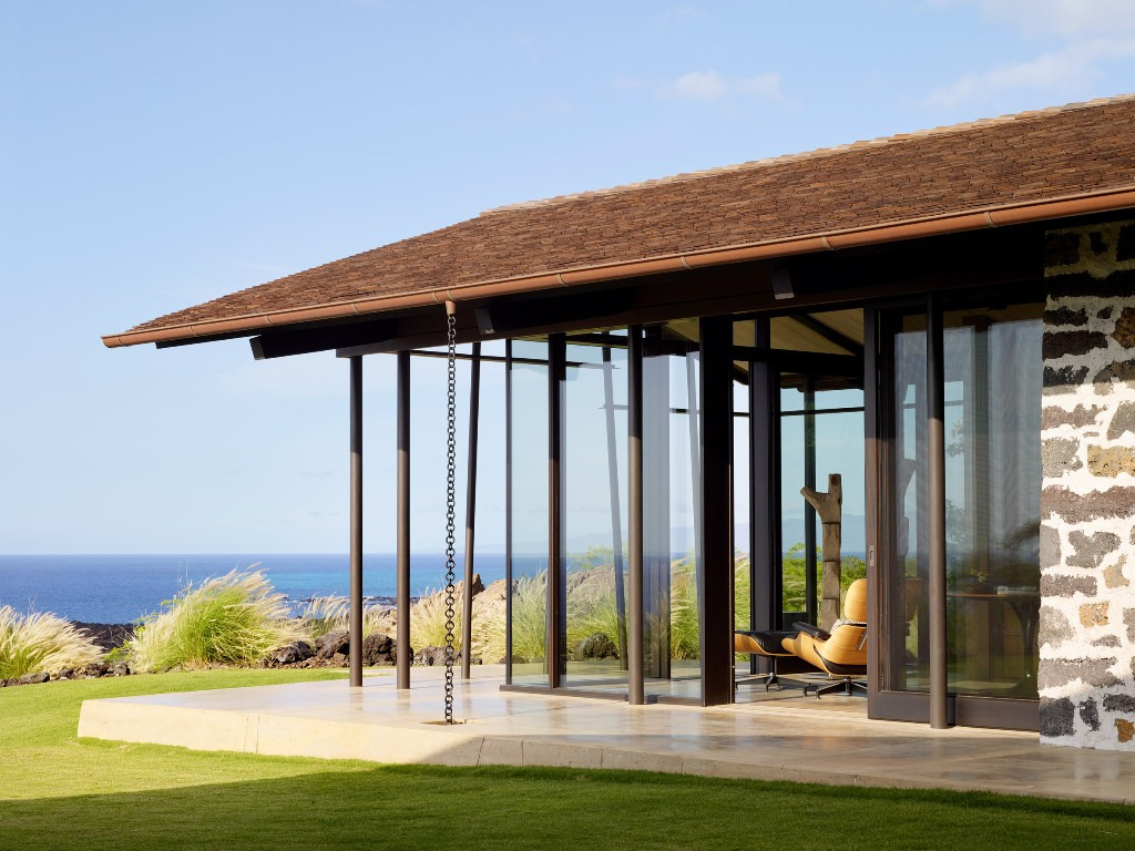 The home inspires indoor outdoor living and looks open and bright