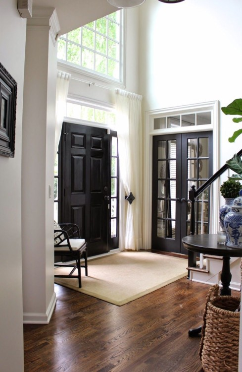 make your entryway dramatic and chic rocking matte black interiors doors like these ones