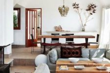 a cool eclectic living room design