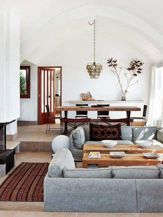 an eclectic home with elements of contemporary, mid-century modern and rustic styles feels West Coast