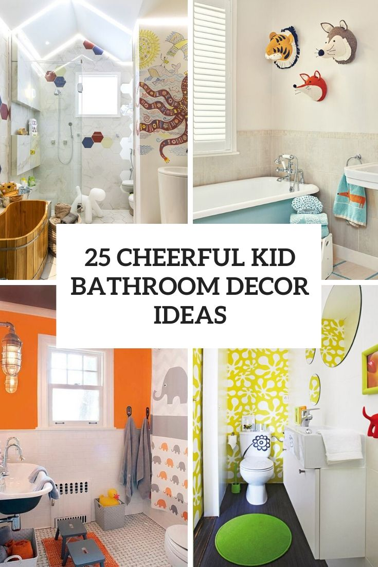 cheerful kid bathroom decor ideas cover