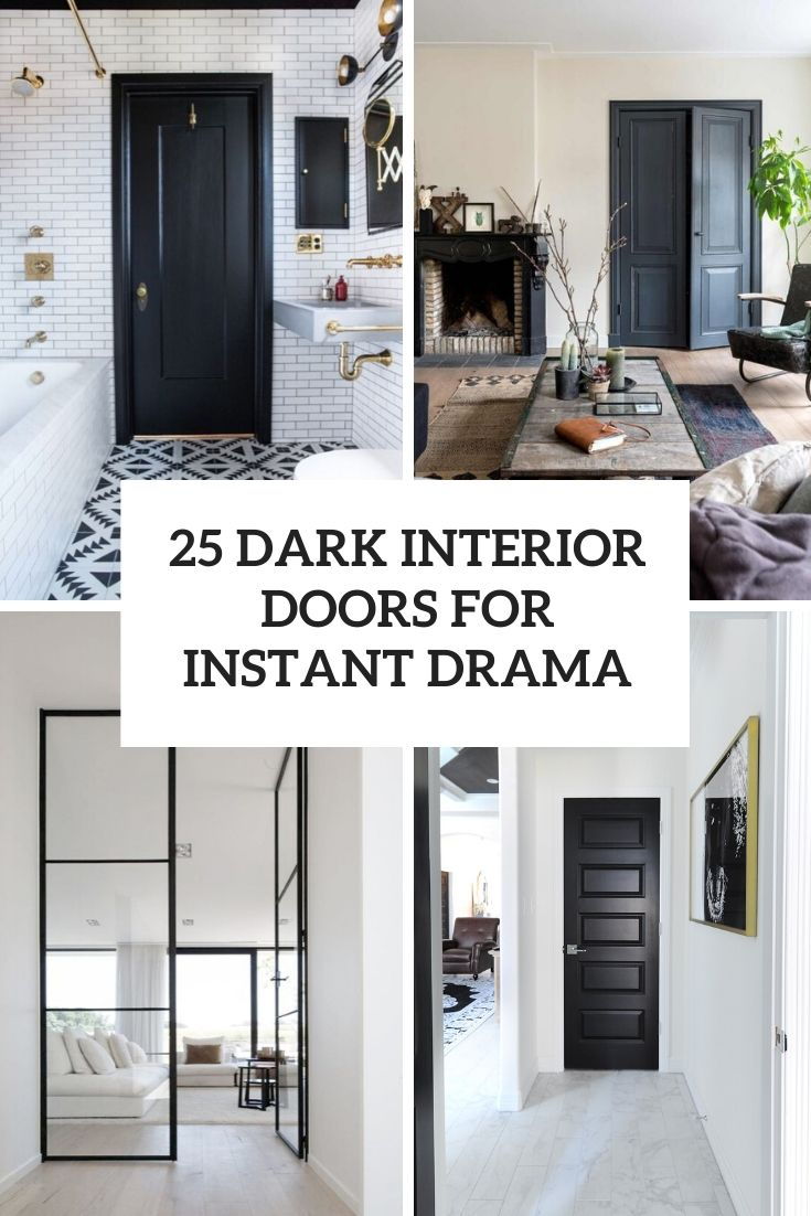 25 Dark Interior Doors For Instant Drama