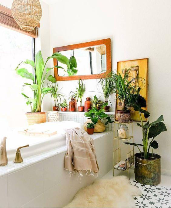 a cool boho bathroom design