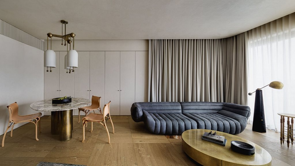 This ultra modern and refined residence is created totally according to the principles of wabi sabi