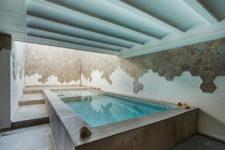 an indoor-outdoor pool design