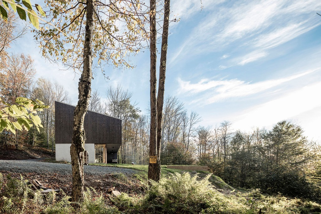 The home is a real woodland retreat, a cool escape house to relax and stay close to nature