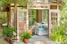 07 a pastel garden shed bedroom is a gorgeous peaceful space to spend time and enjoy a quick nap