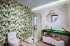 an awesome tropical-themed bathroom design