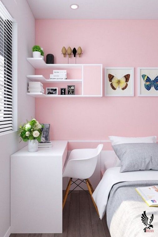 pink paired with bright whites make the room bold and very catchy, such a combo is very refreshing