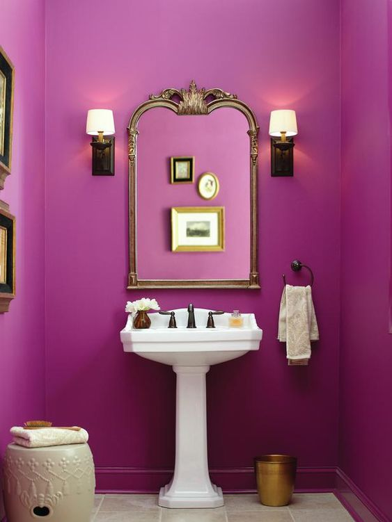 refresh a fuchsia small space with whites and touches of metallics for a refined and chic look