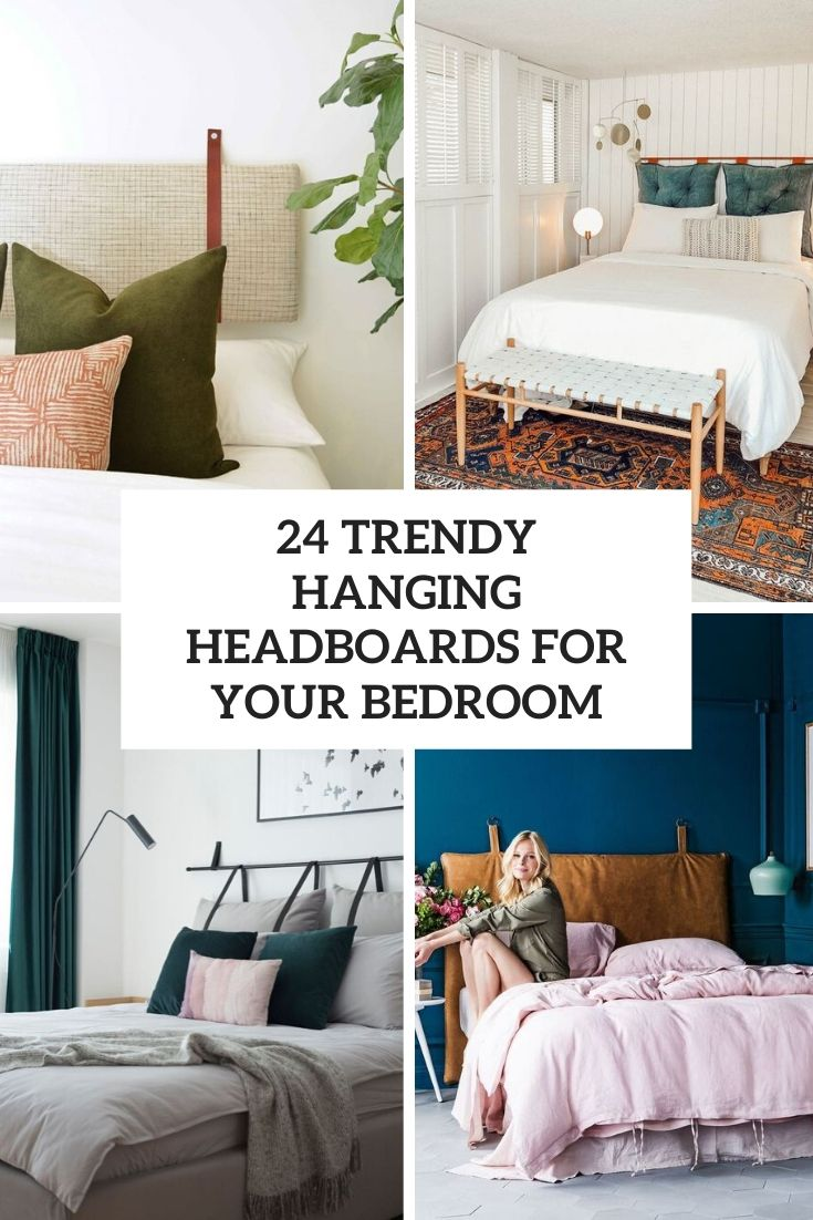 24 Trendy Hanging Headboards For Your Bedroom