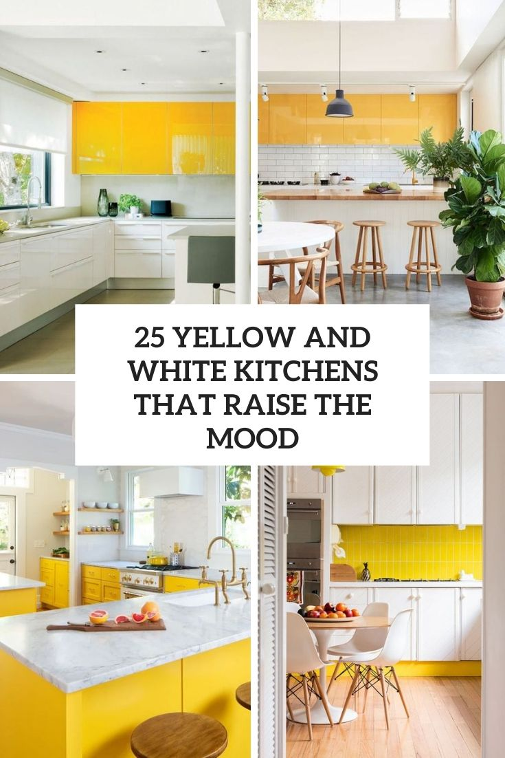 yellow and white kitchens that raise the mood cover