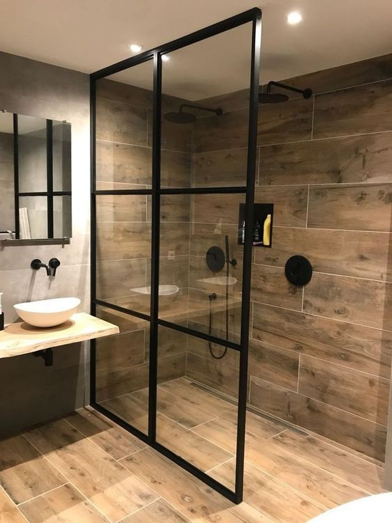 25 Trendy Wood Look Tile Ideas For Bathrooms - DigsDigs