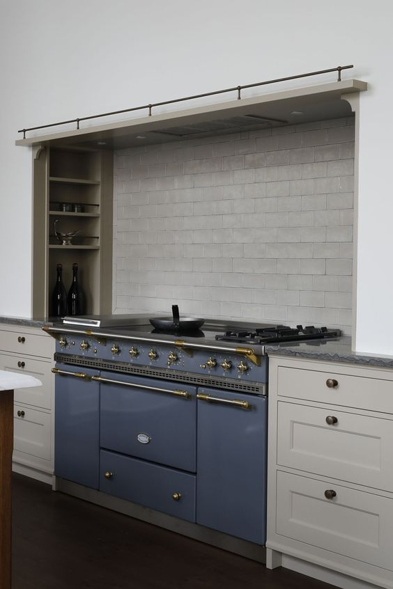 grey backsplash is a practical one