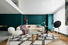 01 This contemporary apartment in China was created by a designer for himself and it shows off all his unique personality
