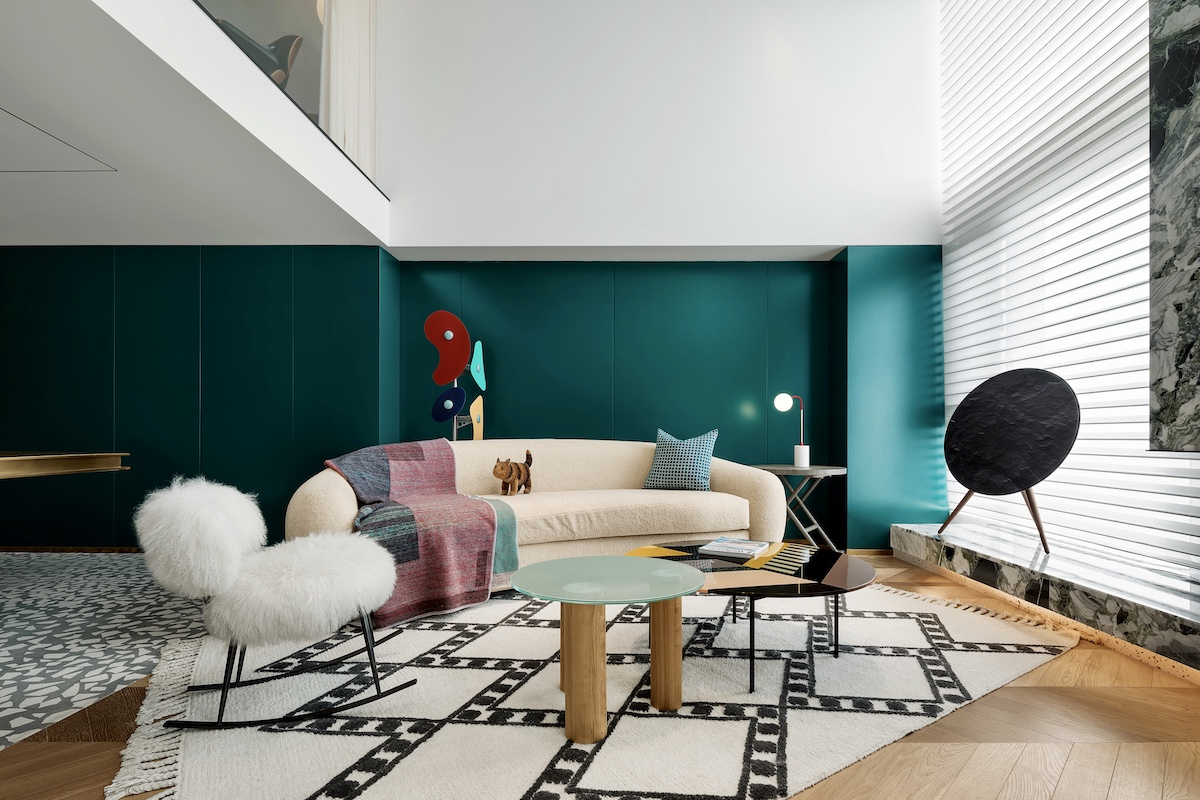 This contemporary apartment in China was created by a designer for himself and it shows off all his unique personality