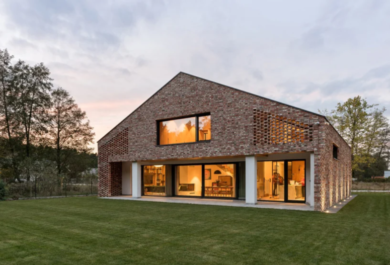 Brick Barn House With Contemporary Interiors