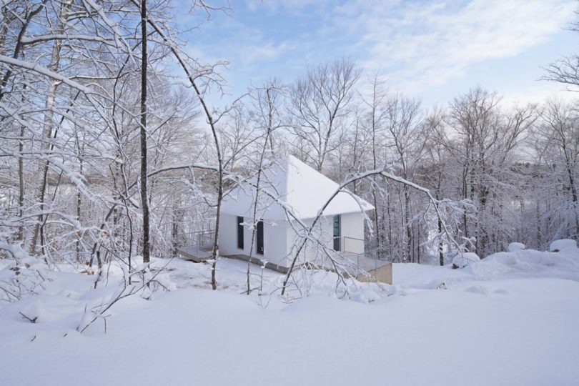 The overall design of the house was inspired by the terrain and topography around