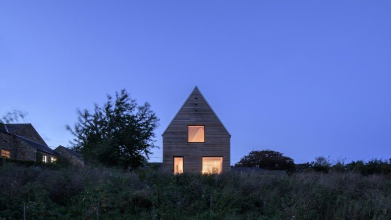 This home is a modern take on traditional barns that are characteristic for this rural area