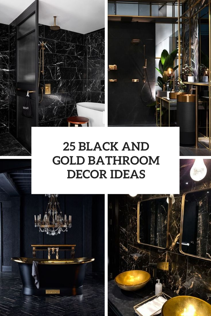 25 Black And Gold Bathroom Decor Ideas