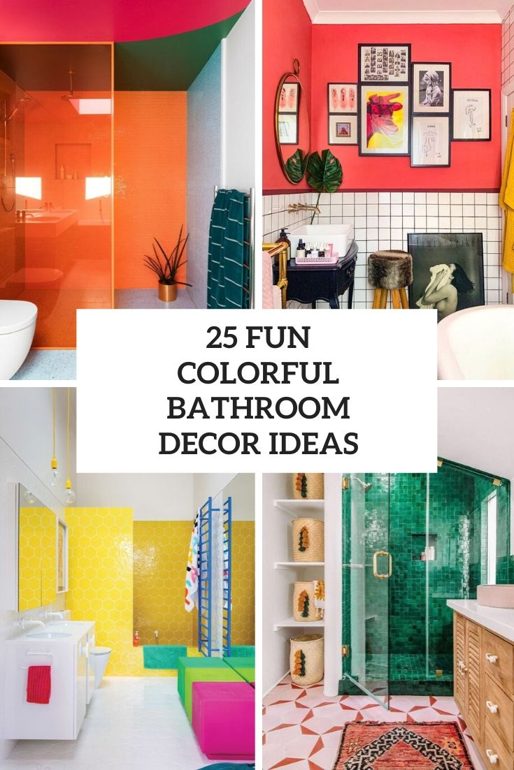 fun colorful bathroom decor ideas cover