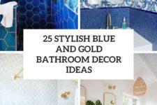25 stylish blue and gold bathroom decor ideas cover