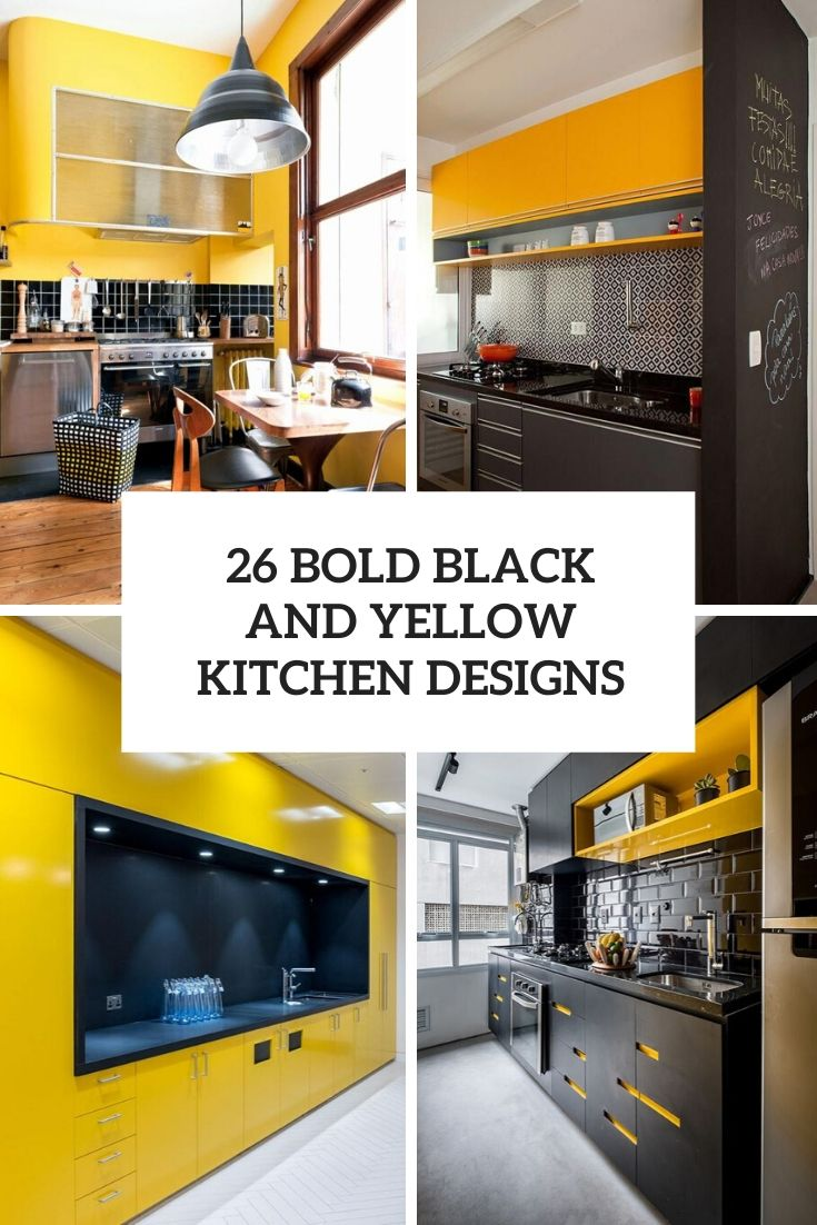 26 Bold Black And Yellow Kitchen Designs
