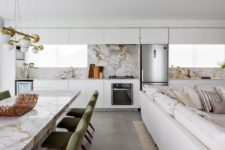 01 This luxurious modern apartment features Brazilian marble and local designs plus local Brazilian types of wood