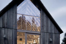01 This modern home is a restored and redone old barn and salvaged materials were used to build it