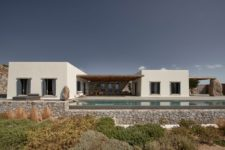 01 This villa in Greece is done with Scandinavian aesthetics and features gorgeous sea views