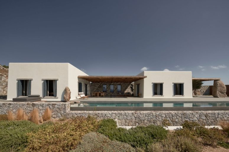 Greek Villa Mandra With Scandinavian Design