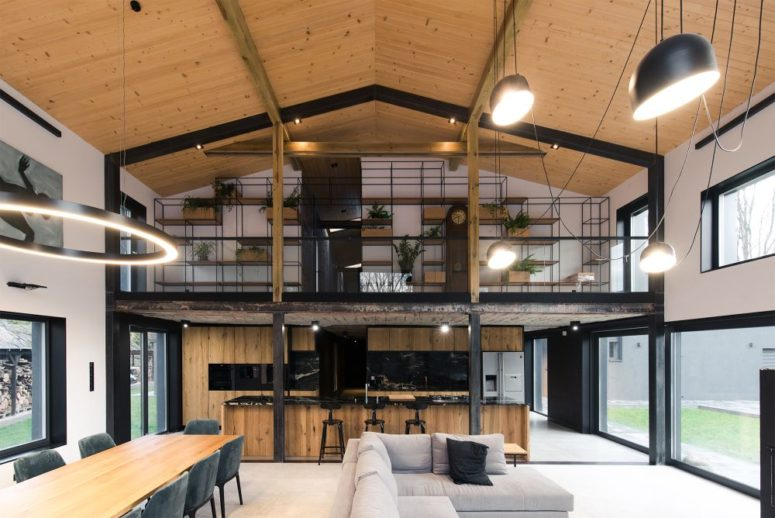 The interiors are minimalist meets industrial, with contrasting touches and a cool use of materials