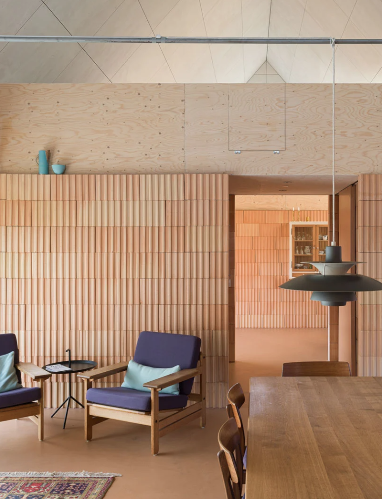 materials add texture to the space