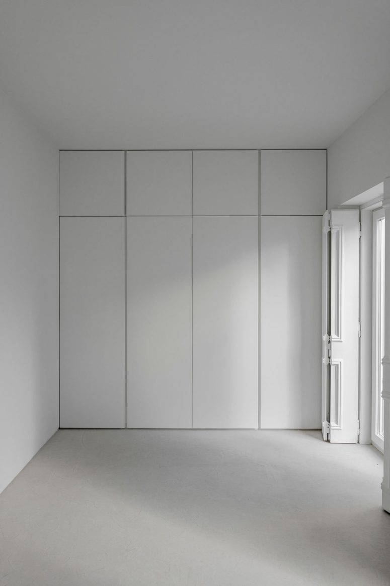 The storage was sleek and hidden to declutter the spaces and keep them minimalist